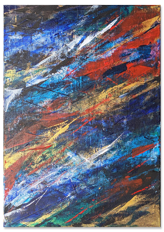 Saccade - Tableau déco Peinture acrylique sur toile 50x70cm