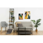 tableau-peinture-tendance-artiste_coloré_moderne_abstrait_texturejaune-vert-rose_diptyque