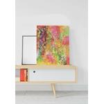 tableau-peinture-tendance-artiste_coloré_abstrait_graffitti_rose-vert-jaune-violet