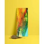 tableau-peinture-tendance-artiste_coloré_moderne_losange_géométrique_bleu-rouge-vert-orange-jaune