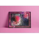 tableau-peinture-tendance-artiste_coloré_abstrait_noir-rose-galaxie