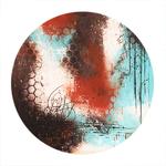 Poster-Decoration-Art-Mural_Abstrait_Turquoise-Terracotta_blanc_texture_40x60cm