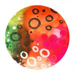 tableau-peinture-tendance-artiste_coloré_moderne_tropical_rose-vert-orange-jaune