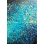 Poster-Decoration-Art-Mural_Abstrait_Turquoise_Or_40x60cm