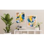 tableau-peinture-tendance-artiste_coloré_bleu-jaune-lilas_duo-diptyque