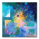 tableau-peinture-tendance-artiste_coloré_textures_carré