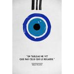 Poster-Decoration-Art-Mural_Message_Citation_Picasso_Regard_40x60cm