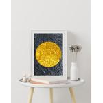 Poster-Decoration-Art-Mural_Contemporain_Minimaliste_Forme_Or_Gold_Cercles2_cadre