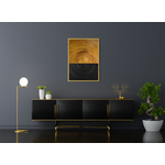 Poster-Decoration-Art-Mural_Contemporain_Minimaliste_Forme_Or_Gold_Cercles1_cadre