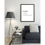 Poster-Decoration-Art-Mural_Message_Exister_définition-dictionnaire_cadre