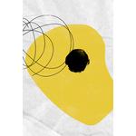 Poster-Decoration-Art-Mural_Contemporain_Minimaliste_Formes_NoirEtJaune_CoupDePinceau_40x60cm