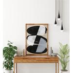 Poster-Decoration-Art-Mural_Contemporain_Minimaliste_formes_NoirEtBlanc_Gris_Galets_40x60