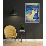 Poster-Decoration-Art-Mural_Poetique_Imaginaire_Illsutration_Fille_Oiseau_LittleBird_cadre