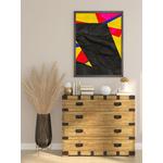 Poster-Decoration-Art-Mural_Contemporain_Collage_Noir_Papier_cadre