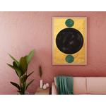 Poster-Decoration-Art-Mural_Contemporain_Minimaliste_Forme_Or_Gold_Cercles_cadre