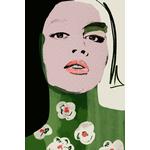 Poster-Decoration-Art-Mural_Peinture_Illustration_Portrait_Fleurs_Femme-PinkLady_40x60