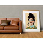 Poster-Decoration-Art-Mural_Dessin_Illustration_Portrait_Motifs_Femme-Mademoiselle1_cadre