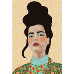 Poster-Decoration-Art-Mural_Dessin_Illustration_Portrait_Motifs_Femme-Mademoiselle1_40x60cm
