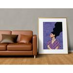 Poster-Decoration-Art-Mural_Dessin_Illustration_Portrait_Motifs_Femme-Mademoiselle3_cadre