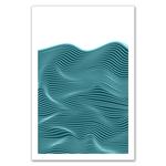 Poster-Decoration-Art-Mural_Minimaliste_Mer_Bleu_Turquoise_Rayures_Traits_40x60cm