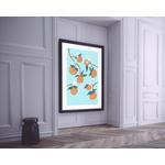 Poster-Decoration-Art-Mural_Nature_Bleu_Orangeraie_cadre2