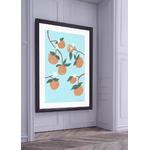Poster-Decoration-Art-Mural_Nature_Bleu_Orangeraie_cadre