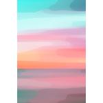 Poster-Decoration-Art-Mural_Couleurs_CoucherDeSoleil_40x60