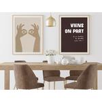 Poster-Decoration-Art-Mural_Message_ViensOnPartAvecLeChocolat_cadre2