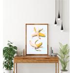 Poster-Decoration-Art-Mural_Bananes_PopBananas_40x60_cadre