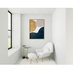 Poster-Decoration-Art-Mural_Contemporain_Minimaliste_3formes3couleurs_cadre2