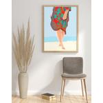 Poster-Decoration-Art-Mural_SurLaPlage_40x60cm_cadre