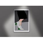 Poster-Decoration-Art-Mural_BottinesATalonsEtMotifsPoints_40x60_cadre