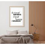 Poster-Decoration-Art-Mural_Message_Enfants-Heureux_cadre