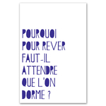 Poster-Decoration-Art-Mural_Message_ReverOuDormir_40x60cm