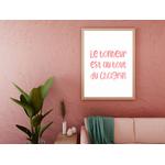 Poster-Decoration-Art-Mural_Message_Bonheur_cadre