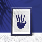 Poster-Decoration-Art-Mural_Contemporain_Minimaliste_formes-bleu-marine_cadre