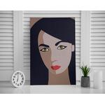 Poster-Decoration-Art-Mural_Dessin_Illustration_Portrait_Femme-Kiara_cadre