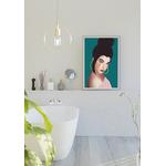 Poster-Decoration-Art-Mural_Dessin_Illustration_Portrait_Motifs_Femme-Mademoiselle4_cadre