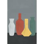 Poster-Decoration-Art-Mural_Contemporain_Minimaliste_formesetcouleurs_cuisine_4Vases_40x60cm