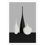 Poster-Decoration-Art-Mural_Contemporain_Minimaliste_formesetcouleurs_cuisine_3Vases_cadre