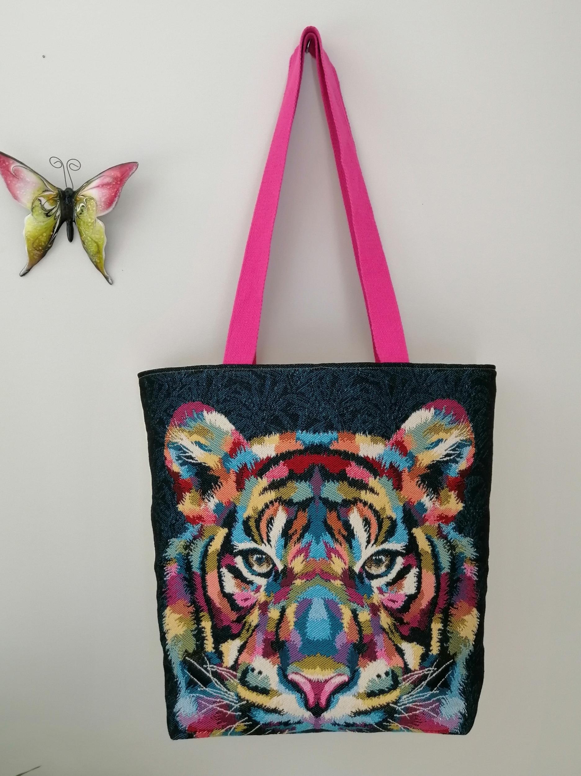 sac à main cabas animaux tigre