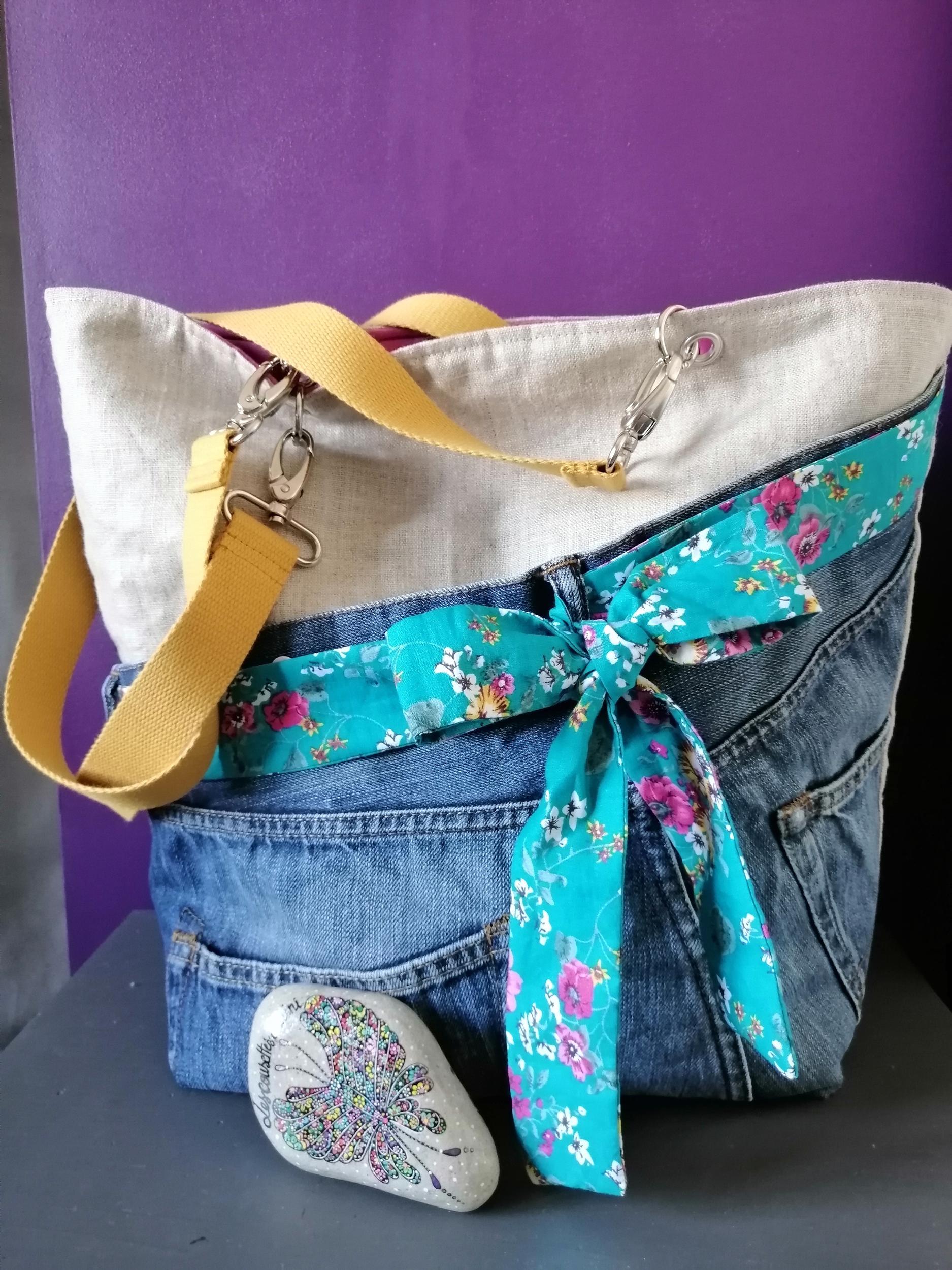 sac en jean girly