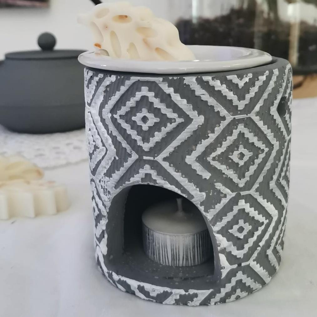 brûleur béton gris