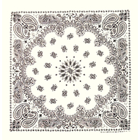 White Paisley Bandannas, Made in USA