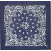 Navy Paisley Bandannas, Made in USA