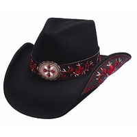 Bullhide Chapeau de cowboy All4Good Blk / Red