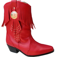 Bottines Idaho rouge