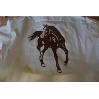 H.Chemise Blanche avec Cheval