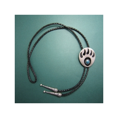 silver-plated-western-bear-paw-bolo-tie-7