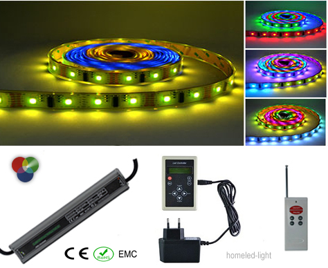 Ruban LED KIT Bandeau led MAGIC RGB 5M 32LED-M 30W et accessoires 2 Homeled-light